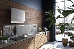 Faber Talika Cross Titanium Wall Hood Lifestyle Room Shot