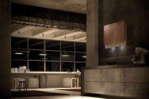 Faber Talika Copper Wall Hood Lifestyle Room Shot